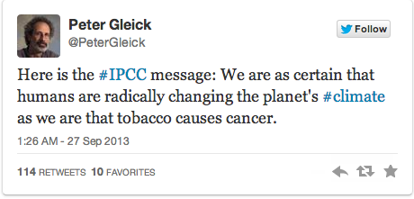 IPCC climate change tweet